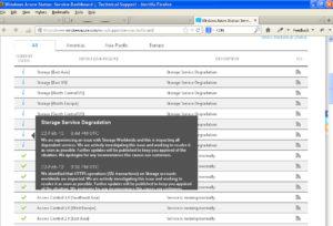 דיווח בדף התמיכה של מיקרוסופט Azure